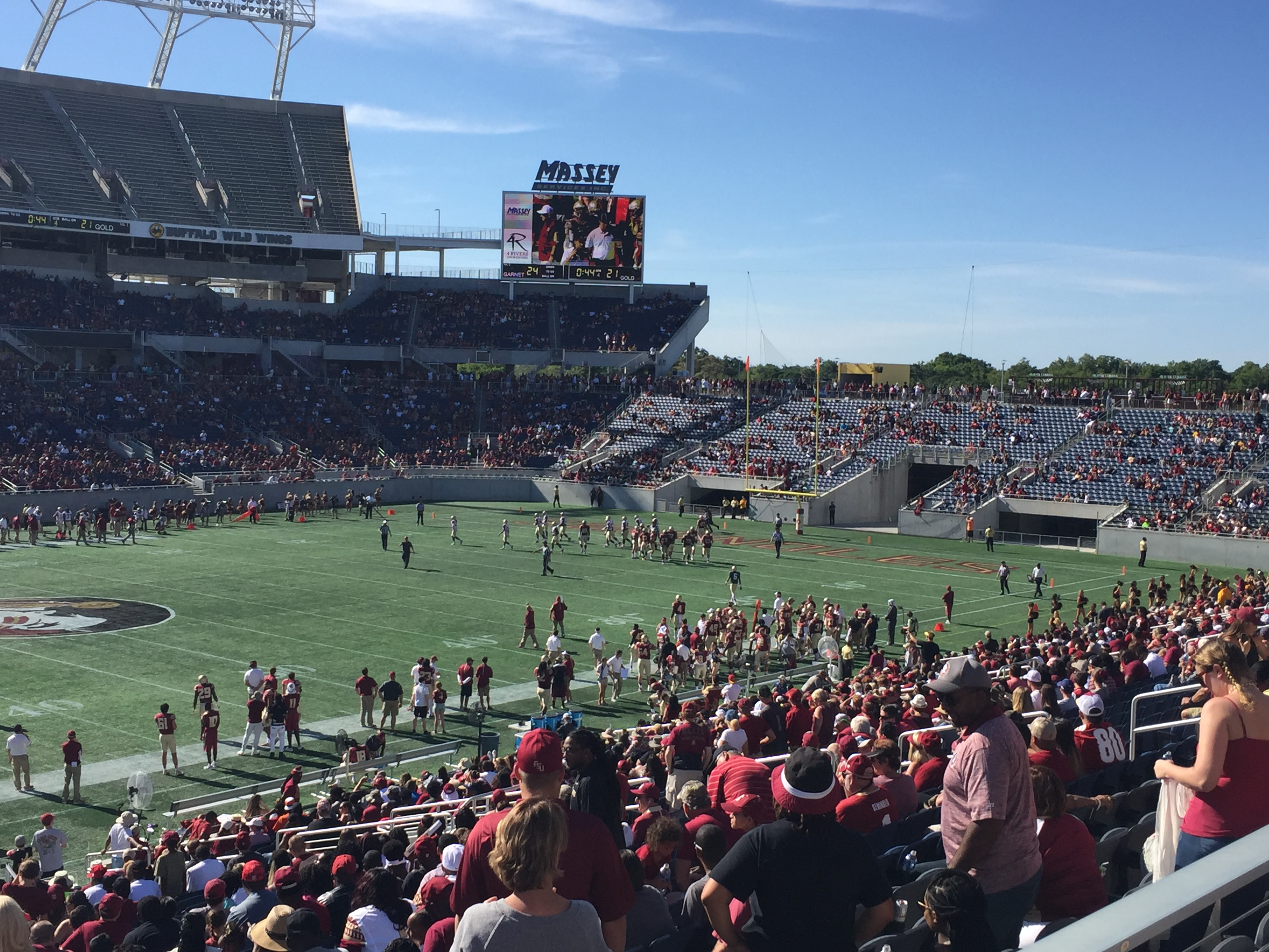 Enjoy college football?  Seminole fans sure do.  Check out the spring game in Orlando