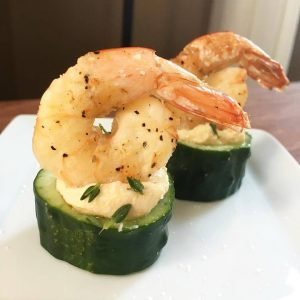 Pickled Shrimp with Cucumber