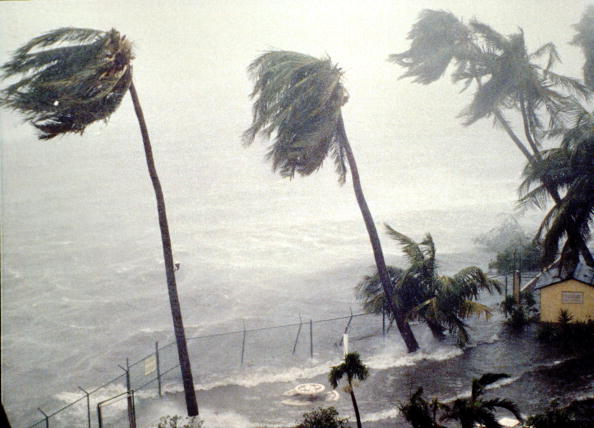 Hurricane Hugo hitting St. Croix. Photo: Gary Williams/Getty Images