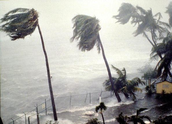 Hurricane Hugo hitting St. Croix. Photo: Gary Williams/Getty Images