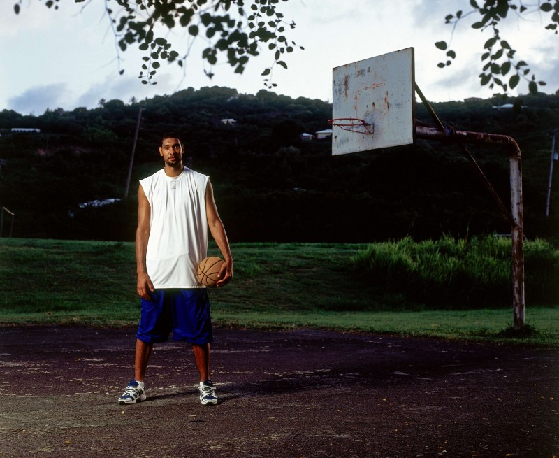 Tim on his home court in St. Croix. Photo: realclearlife.com Nathaniel S. Butler / NBAE via Getty Images.