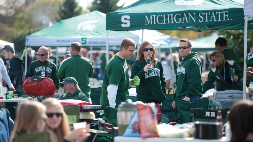 Michigan State tailgate - courtesy of Scout.com