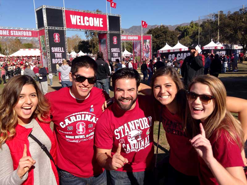 Fans tailgating at fanfest - courtesy of news.stanford.edu