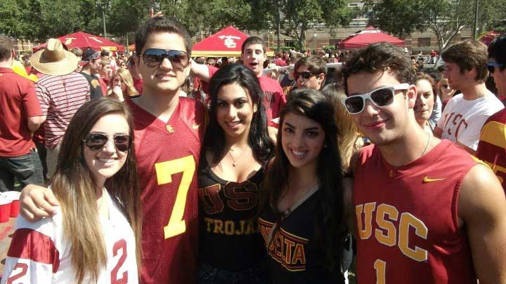 USC Tailgating - courtesy of viterbivoices.usc.edu