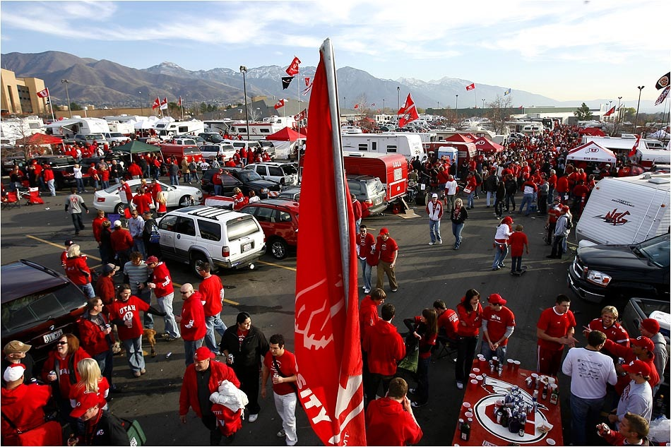 Utah fans tailgate prior to the Utah/BYU game. Courtesy of Chris Detrick/The Salt Lake Tribune