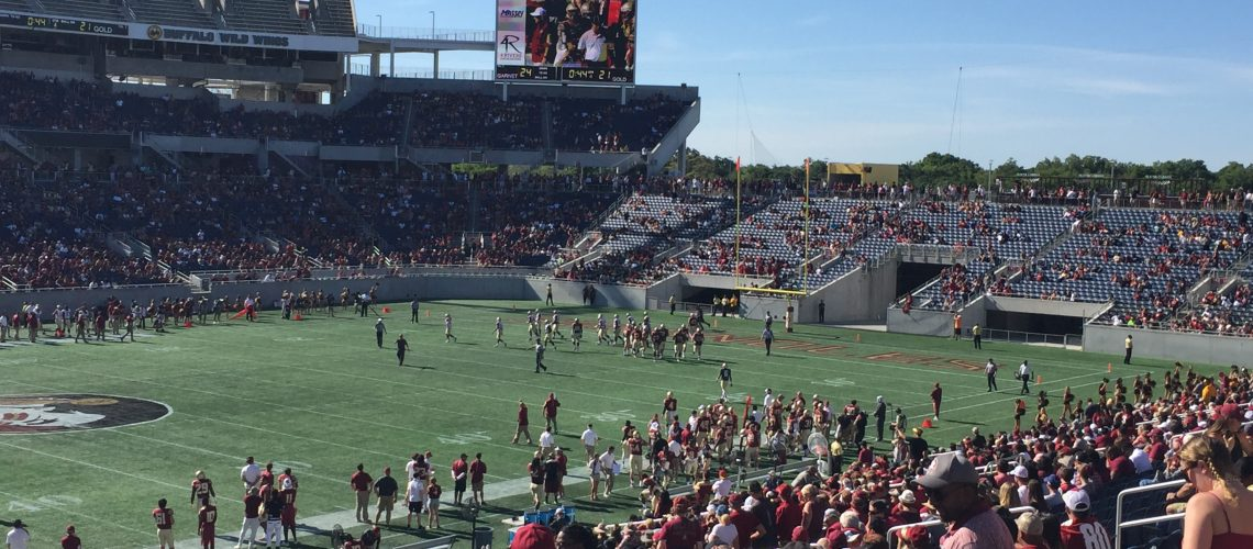 4th Quarter action at the 2016 Garnet and Gold game
