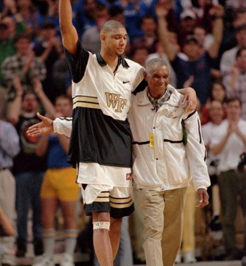 Tim Duncan at Wake Forest with dad