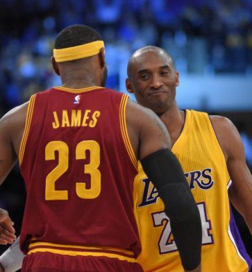 Lebron James and Kobe Bryant